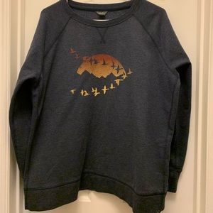 Warm fleece sweatshirt